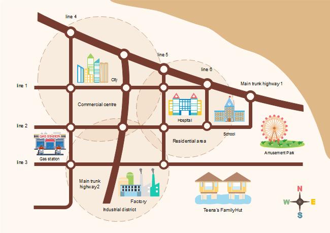 道路地図実例