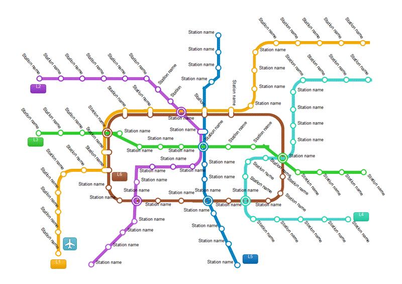 地下鉄路線図テンプレート