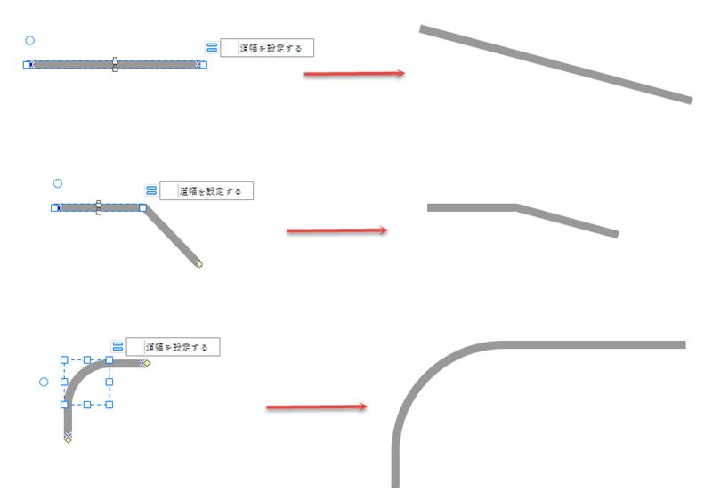 路線図形を編集する
