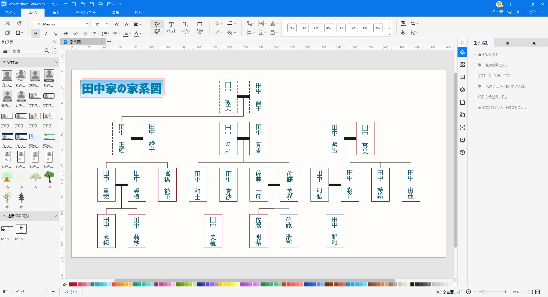 家系図作成ソフト