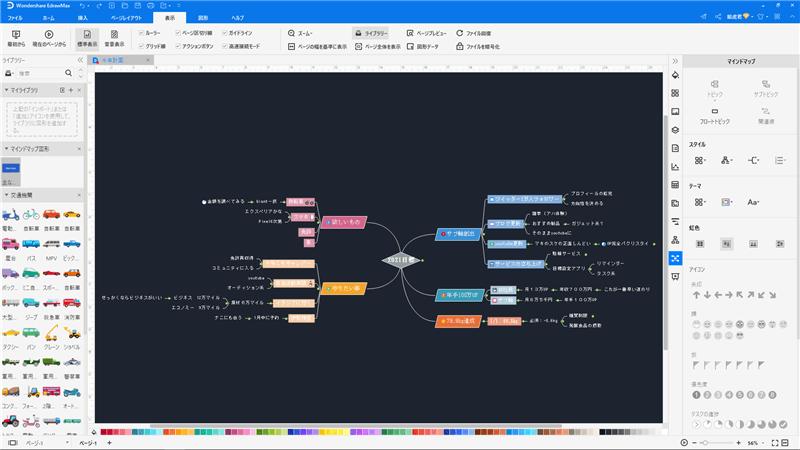 未来設計マインドマップ作成ソフト