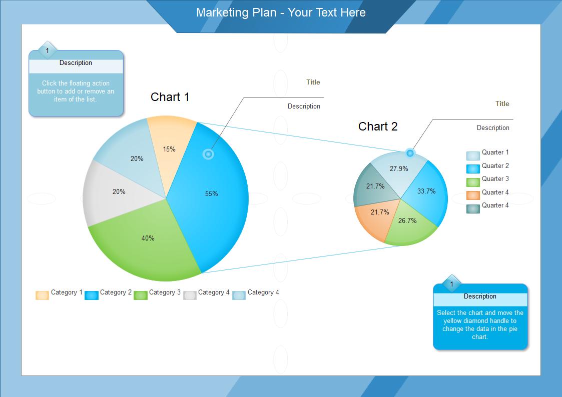 マーケティング計画円グラフ
