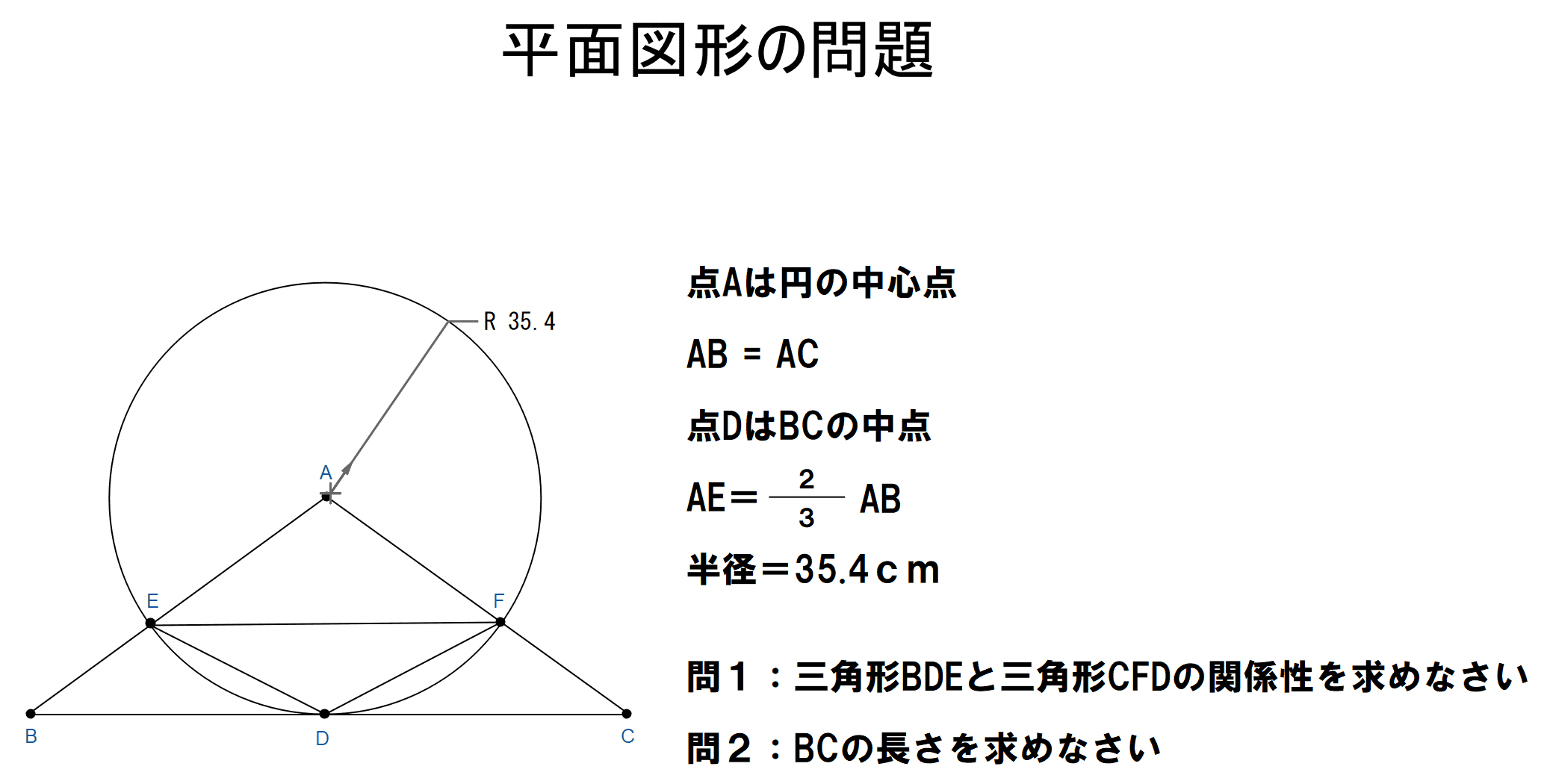 数学の平面図形問題