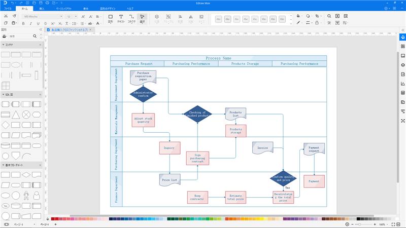 業務フロー図作成ツール