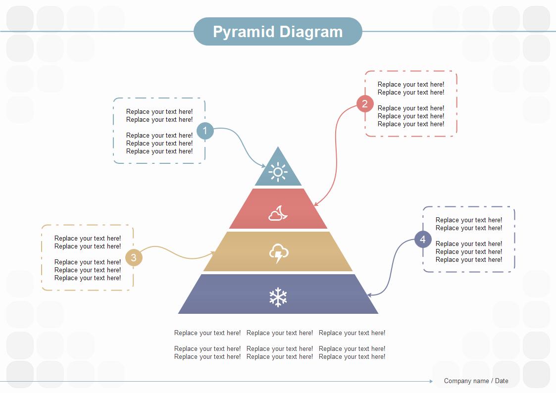 ピラミッド図テンプレート