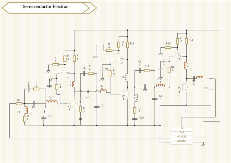 半導体電子回路図