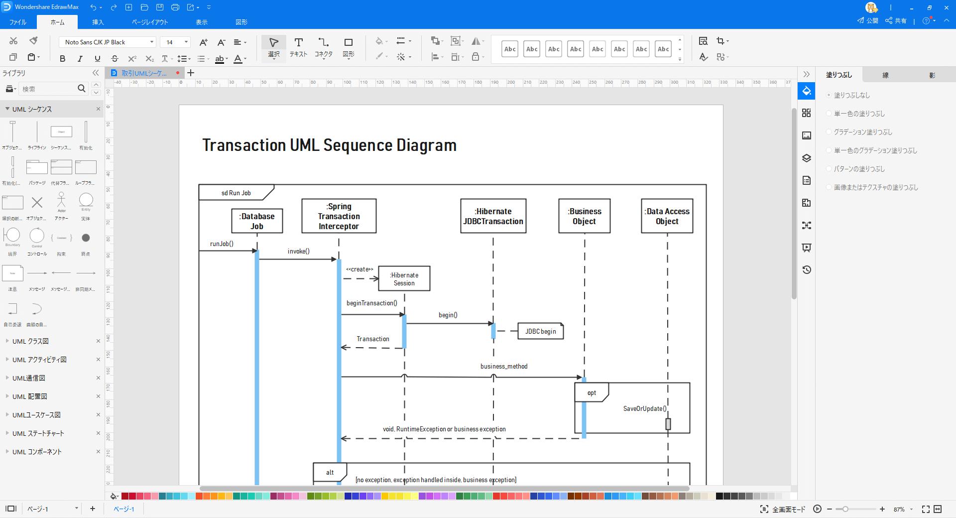 シーケンス図作成ソフト