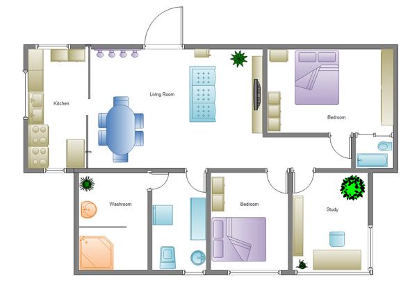 シンプルな家の間取り図
