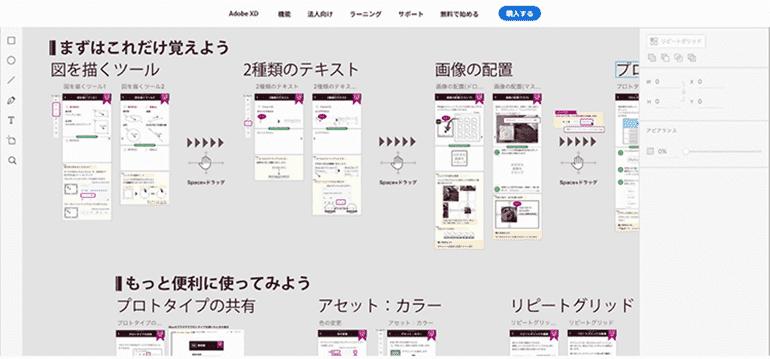 Adobe XDサイトマップ
