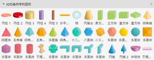 3D 幾何学図形