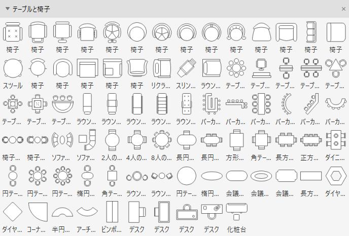 座席設計用の図形