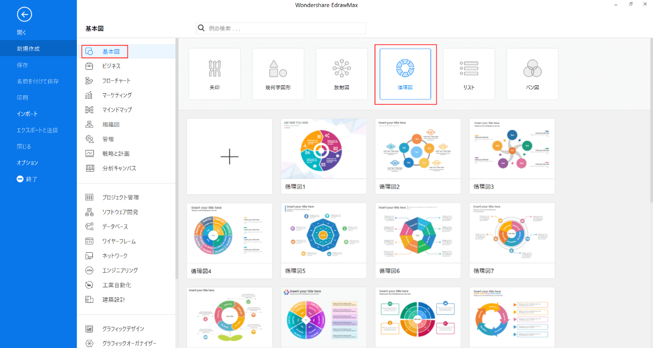 EdrawMaxで循環図実例を作成