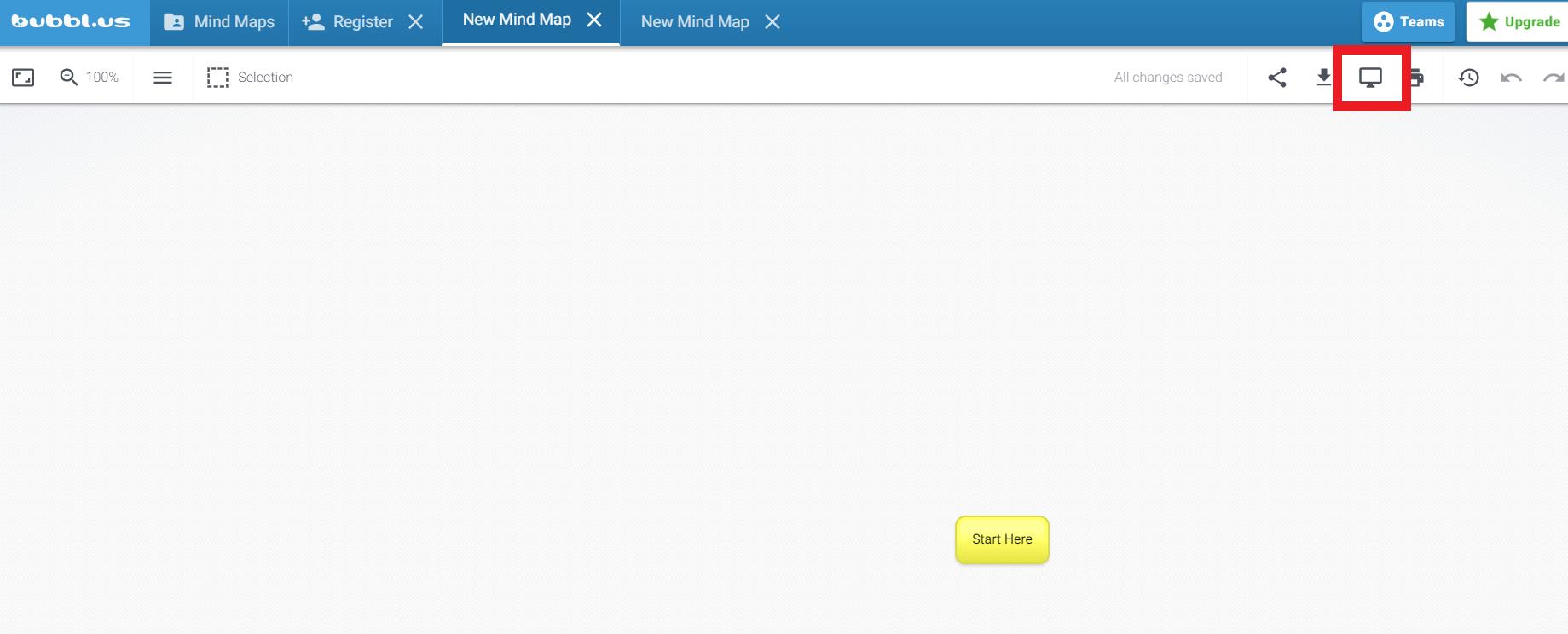 온라인 기반 마인드맵